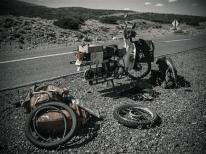 Barrancas - On road repairs, Argentina