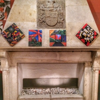 Some of his paintings.
