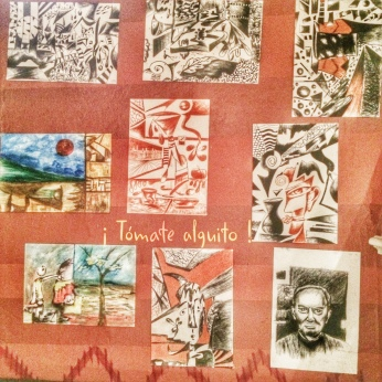 Part of the exhibition in the Masaya restaurant.