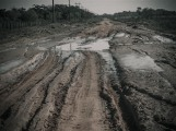 San Estanislao - Colonia Friesland, Muddy roads in Paraguay