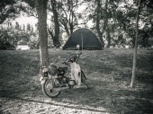 Viedma - camping on a river in Argentina
