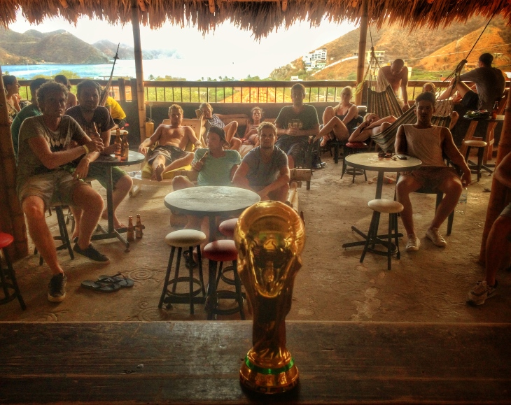 La Tortuga bar during a World Cup game.